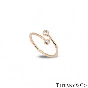 Tiffany & Co. Rose Gold Diamond Elsa Peretti Ring